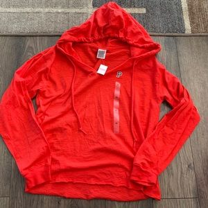 Victoria's Secret Pink red hoodie sweatshirt